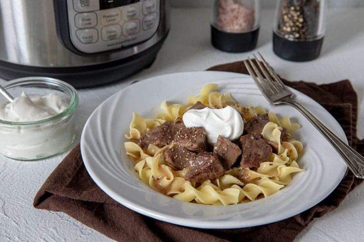 Pressure Cooker Sirloin Tips in Gravy