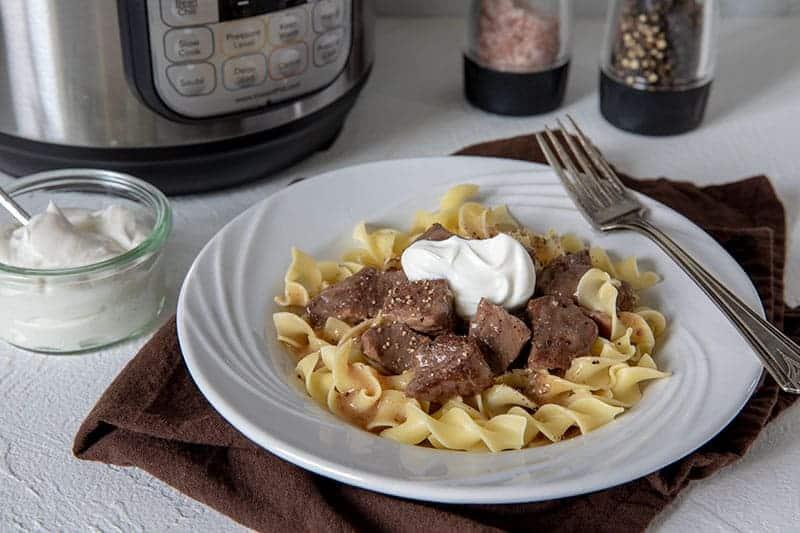 Pressure Cooker (Instant Pot) Sirloin Tips in Gravy
