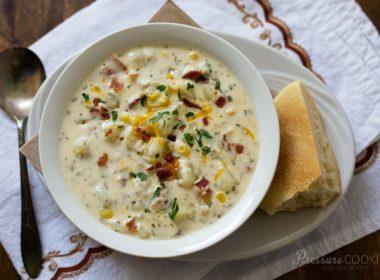 Pressure Cooker (Instant Pot) Potato Cheese Soup