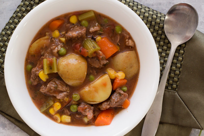 Instant Pot Beef Stew with vegetables and potatoes