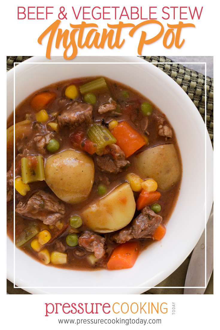 Pin for Later: Instant Pot Beef Stew Recipe | Pressure Cooker Beef Stew Recipe via @PressureCook2da