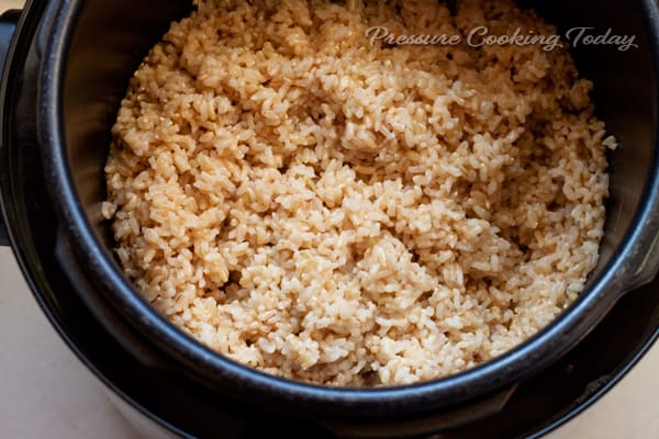 Brown basmati rice in rice cooker