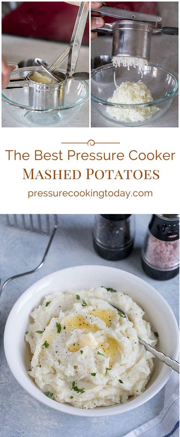 Stop boiling your potatoes when you're making mashed potatoes. To make the best mashed potatoes, make them in your Instant Pot / pressure cooker.