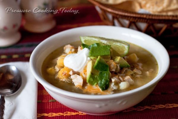 Chicken Tomatillo Soup with Hominy