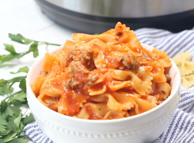 Bow Tie Pasta in the Electric Pressure Cooker
