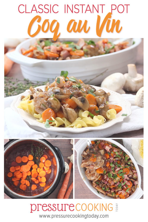 Pin for Later | Classic Instant Pot Coq Au Vin