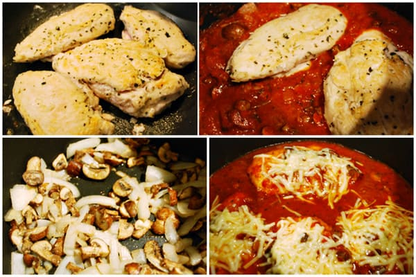 Pressure Cooker Chicken Parmigiana collage