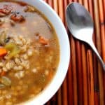 Pressure Cooker Portobello Mushroom and Barley Soup