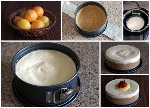 pressure cooker / Instant Pot cheesecake in a springform pan
