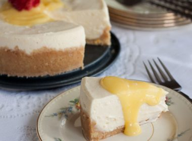 Pressure Cooker ((Instant Pot) Meyer Lemon Cheesecake