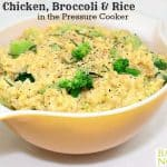 Pressure Cooker Cheesy Chicken Broccoli Rice
