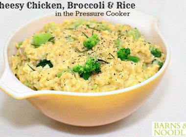 Pressure Cooker (Instant Pot) Cheesy Chicken Broccoli Rice
