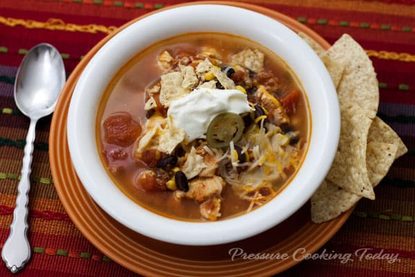 Spicy Chicken Soup / Pressure Cooker Chicken Taco Soup