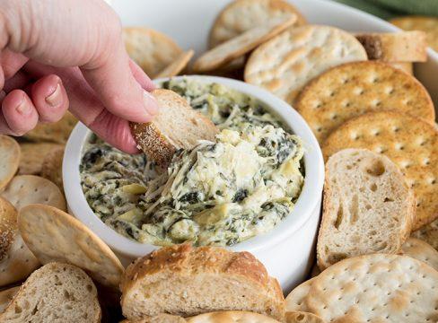 Pressure Cooker (Instant Pot) Spinach Artichoke Dip