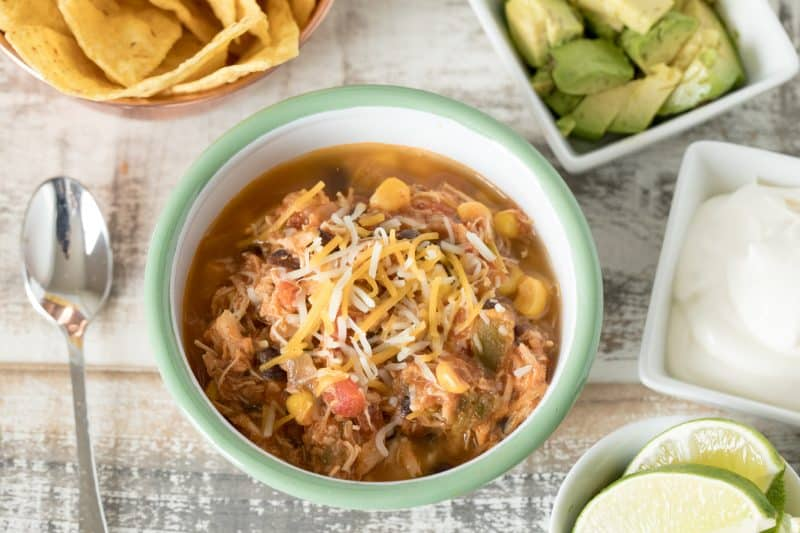 Instant Pot / Pressure Cooker Spicy Chicken Taco Soup