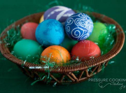 Easter Pressure Cooker Recipes - Hard Boiled Eggs for Easter in the Pressure Cooker (Instant Pot)