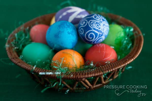 Easter Eggs in the Pressure Cooker