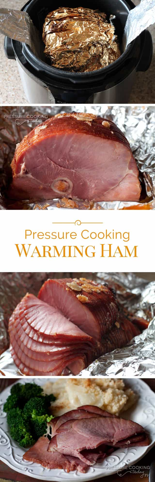 heating ham slices in the pressure cooker (instant pot)