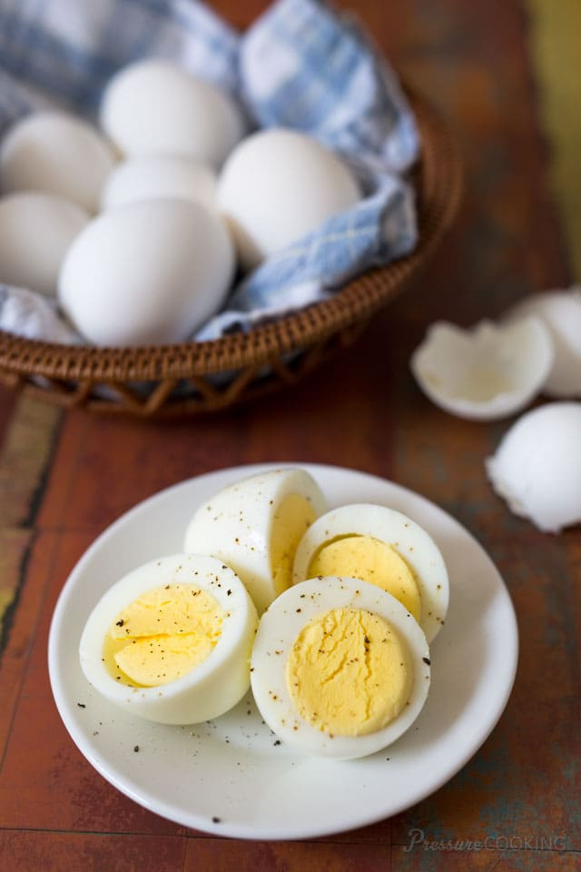 Make the best Pressure Cooker Deviled Eggs.