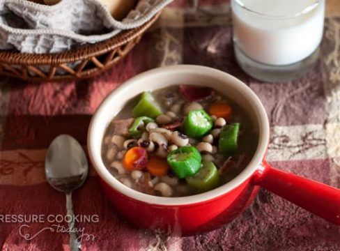 Quick Pressure Cooker (Instant Pot) Black-Eyed Pea Soup