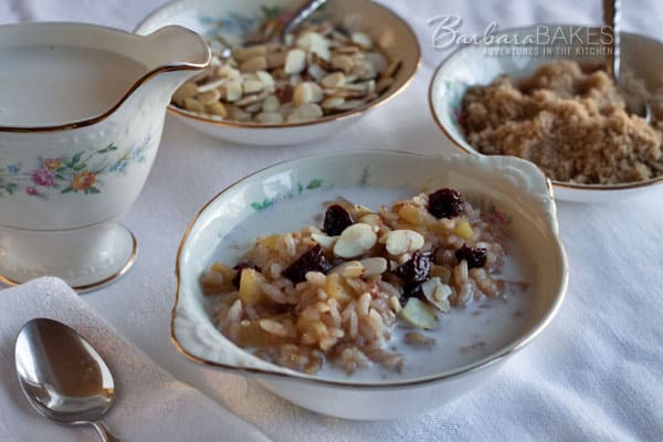 Instant Pot Apple Cherry Breakfast Risotto