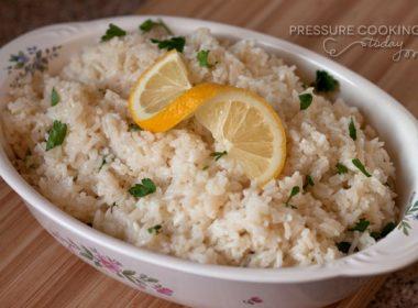 Pressure Cooker (Instant Pot) Lemon Rice