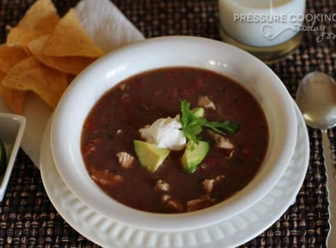 Pressure Cooker (Instant Pot) Picante Chicken and Black Bean Soup
