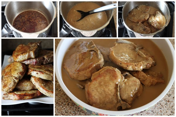 easy pressure cooker instant pot pork chops in mushroom