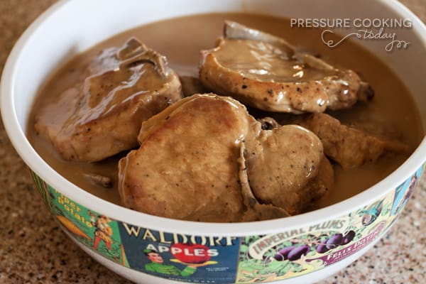 Easy Pork Chops in Mushroom Gravy | Pressure Cooking Today
