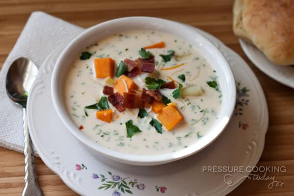Chunky Sweet Potato Soup | PressureCookingToday.com