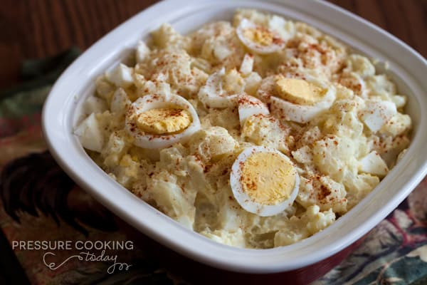 Quick Instant Pot Potato Salad - a classic potato salad cooks in only 4 minutes in the pressure cooker