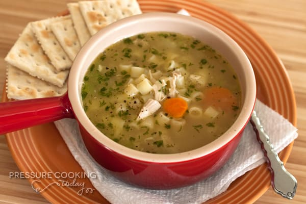 Pressure Cooker Chicken Noodle Soup | PressureCookingToday.com