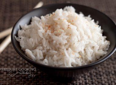 Quick Pressure Cooker (Instant Pot) Coconut Rice
