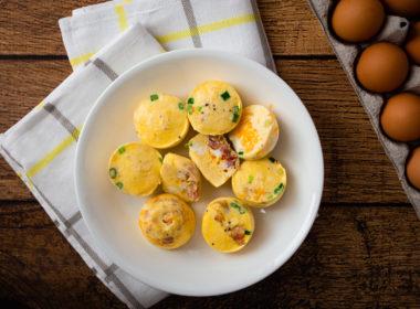 Pressure Cooker Egg Bites prepared in the Instant Pot