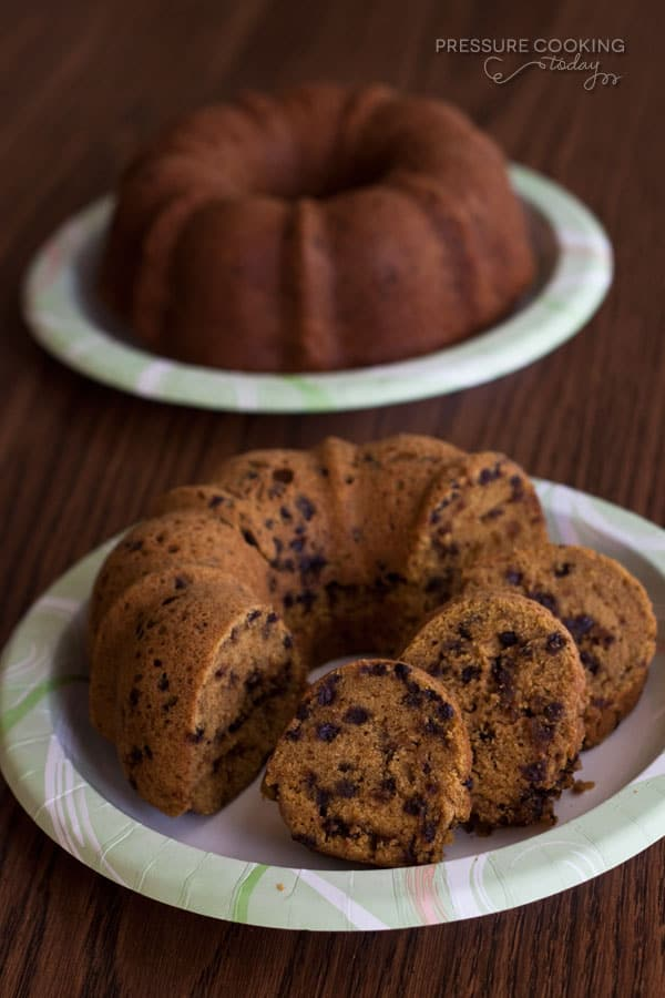 Pressure Cooker Pumpkin Chocolate Chip Bundt Cake | Pressure Cooking Today