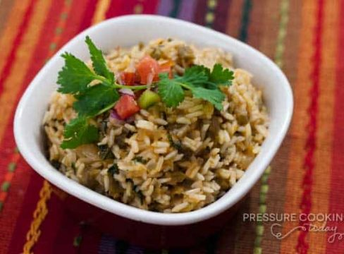 Pressure Cooker (Instant Pot) Green Chile Lime Salsa Rice
