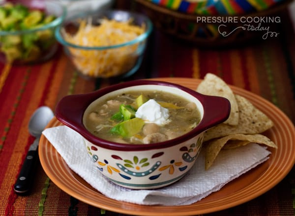 Quick White Chicken Chili | Pressure Cooking Today