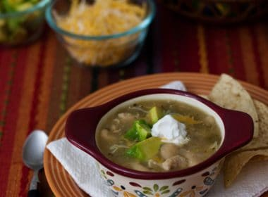 Quick White Chicken Chili, made in a pressure cooker or Instant Pot - one of the quick and easy chicken recipes for a cold night!