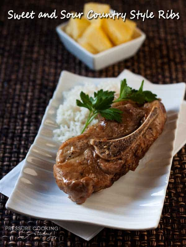 Pressure Cooker (Instant Pot) Sweet and Sour Country Style Ribs