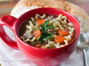 Pressure Cooker (Instant Pot)Turkey Noodle Soup