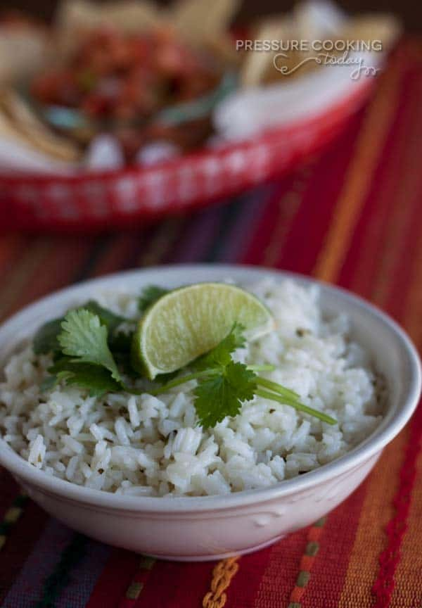 Chipotle's Cilantro Lime Rice in the Pressure Cooker