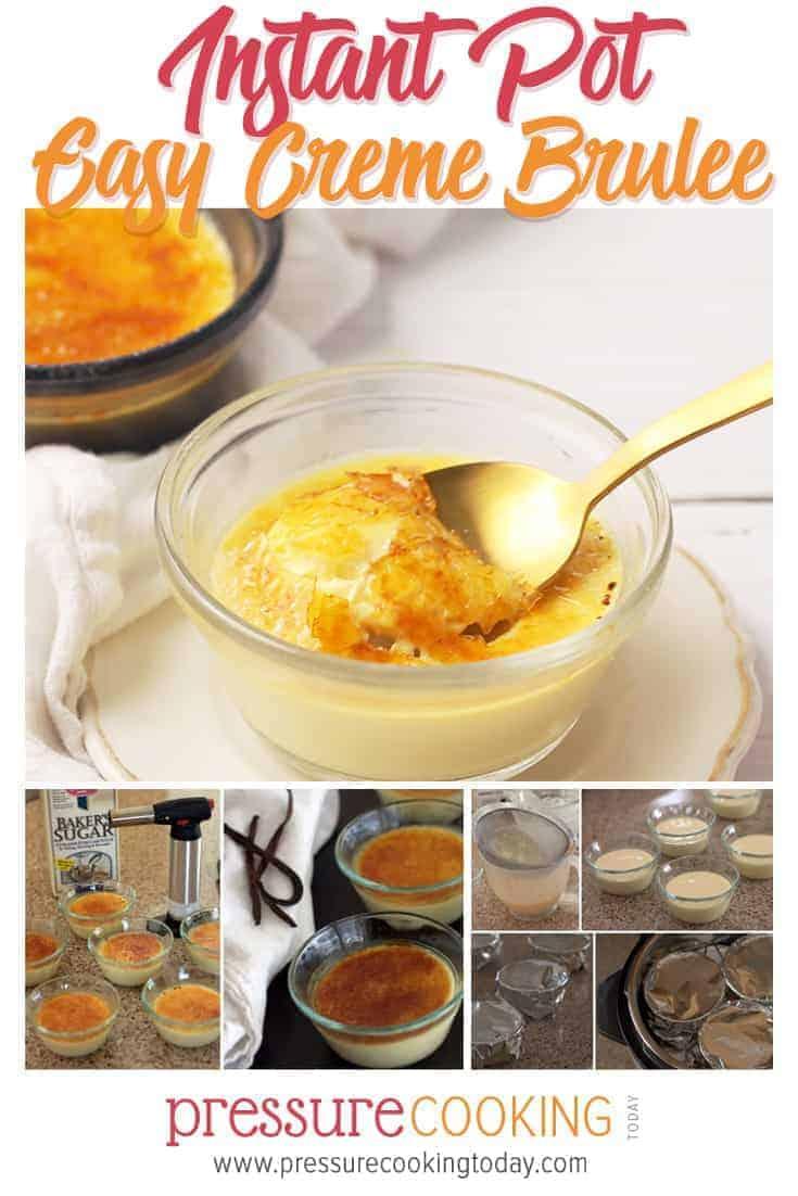Instant Pot Creme Brulee in the pressure cooker via @PressureCook2da