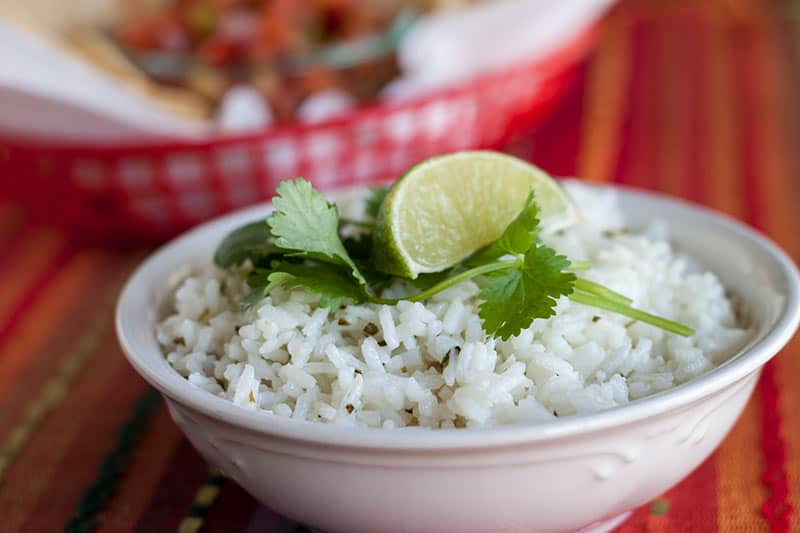 The lime and cilantro give this rice a bright, fresh flavor.