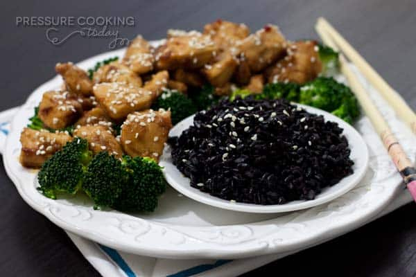 Forbidden Black Rice Recipe @ Pressure Cooking Today