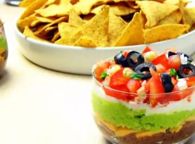 Pressure Cooker (Instant Pot) 7-Layer Dip with Homemade Refried Beans