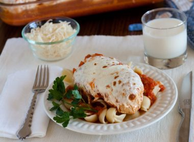 Pressure Cooker (Instant Pot) Marinara Chicken with Melted Mozzarella