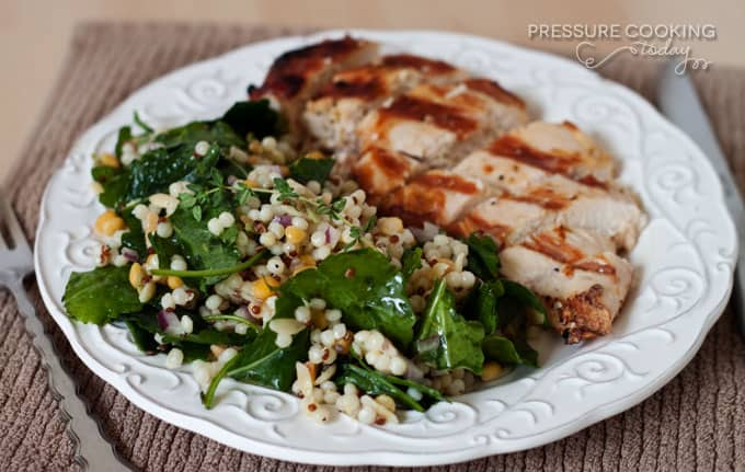 Kale and Harvest Grains Salad Recipe from Pressure Cooking Today