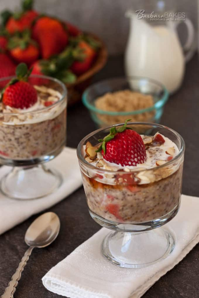 Strawberries and Cream Steel Cut Oats Recipe