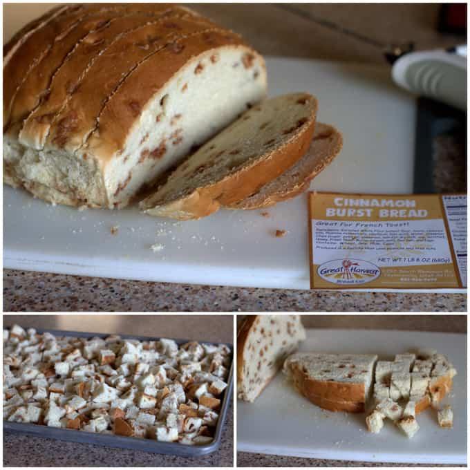 Cinnamon Burst Bread for Bread Pudding
