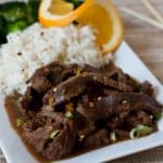 Pressure Cooker Spicy Orange Beef